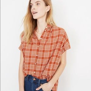 MADEWELL Central Shirt in Fieldgate Plaid